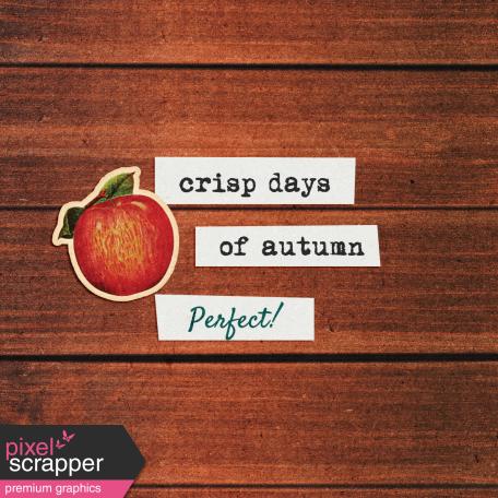 Mulled Cider Crisp Days Journal Card 4x4