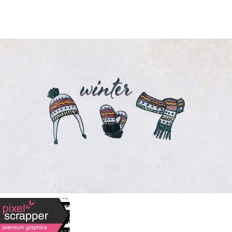 Apricity Winter 4x6 Journal Card