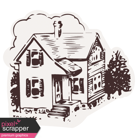 Healthy Measures Print Element House Sticker