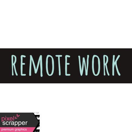 Healthy Measures Print Element Word Art Remote Work