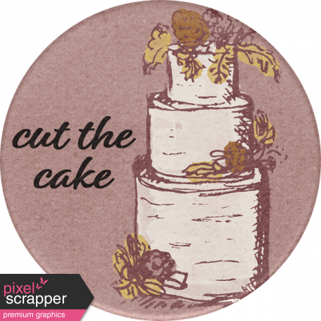 Rustic Wedding Cake Sticker