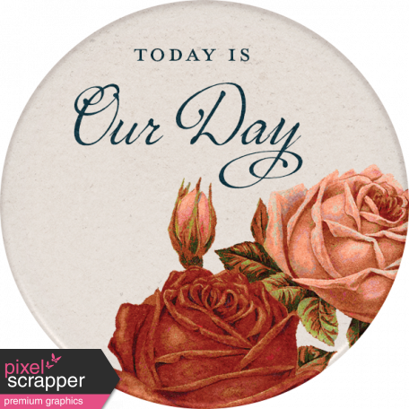 Rustic Wedding Our Day Sticker