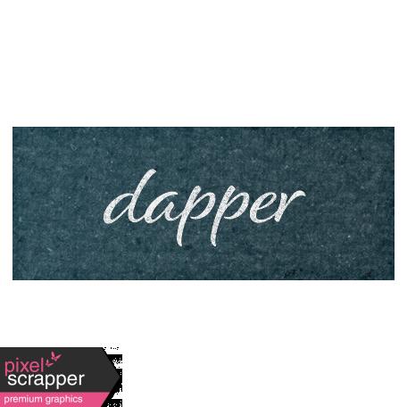 Rustic Wedding Dapper Word Art