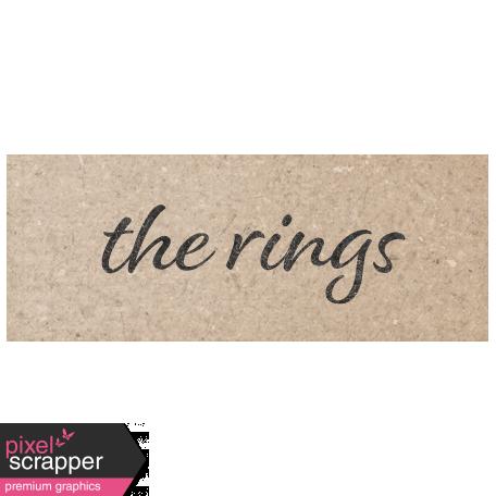 Rustic Wedding The Rings Word Art