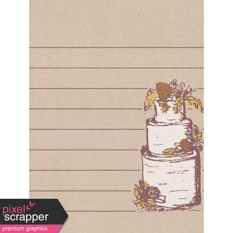 Rustic Wedding Journal Card Cake 3x4
