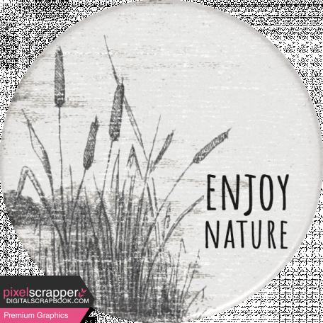Naturally Curious Enjoy Nature Round Sticker