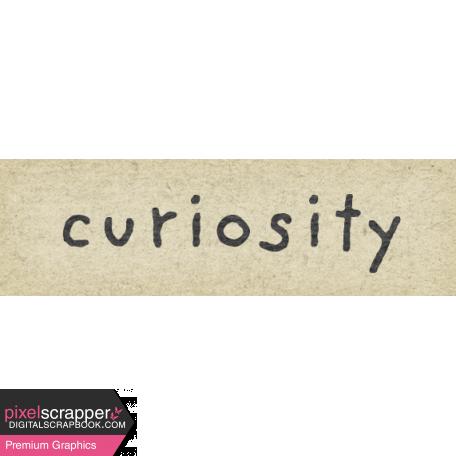Naturally Curious Curiosity Word Art Snippet