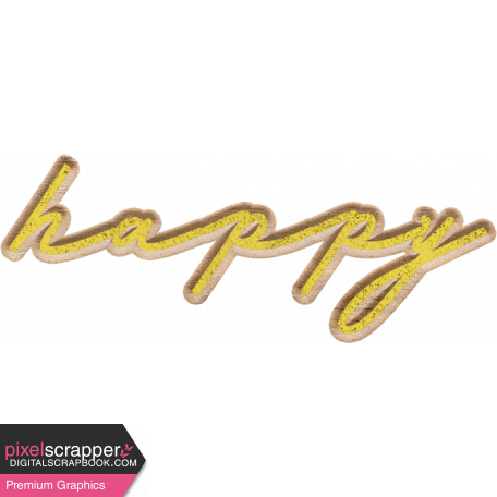 Naturally Curious Happy Word Art