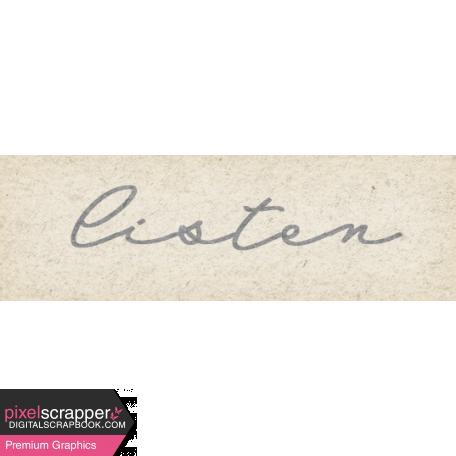 Naturally Curious Listen Word Art Snippet