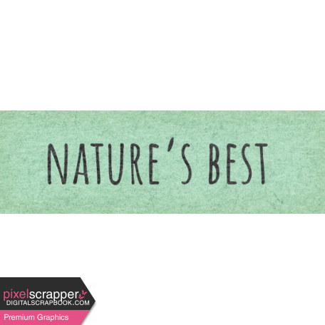 Naturally Curious Nature's Best Word Art Snippet
