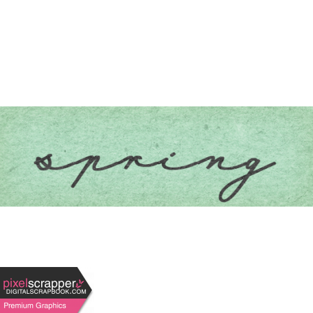 Naturally Curious Spring Word Art Snippet