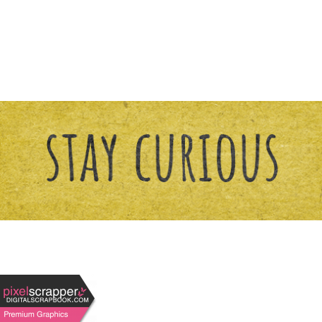 Naturally Curious Stay Curious Word Art Snippet