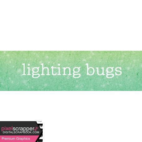 Backyard Summer Element Word Art Snippet Lighting Bugs
