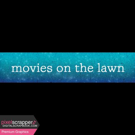 Backyard Summer Element Word Art Snippet Movies
