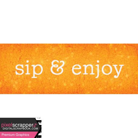 Backyard Summer Element Word Art Snippet Sip