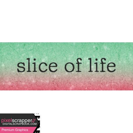Backyard Summer Element Word Art Snippet Slice of Life
