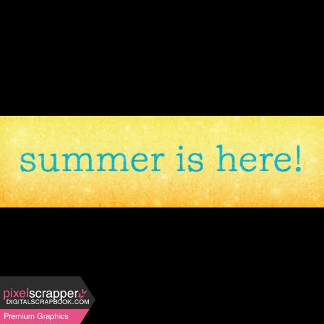 Backyard Summer Element Word Art Snippet Summer