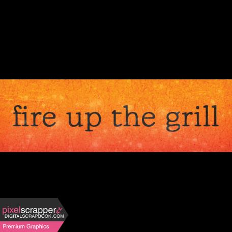 Backyard Summer Element Word Art Snippet Grill