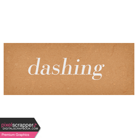 Classy Dashing Word Art Snippet