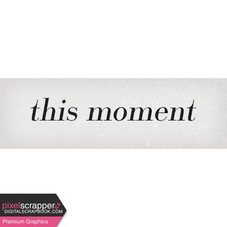 Classy Moment Word Art Snippet