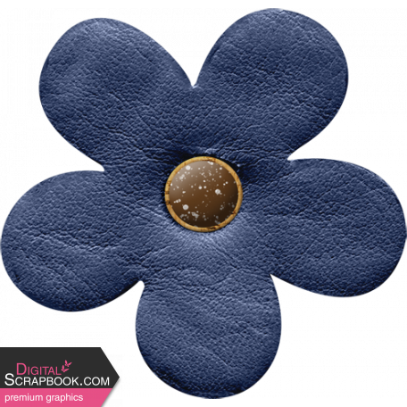 Camp Out Woods Blue Flower