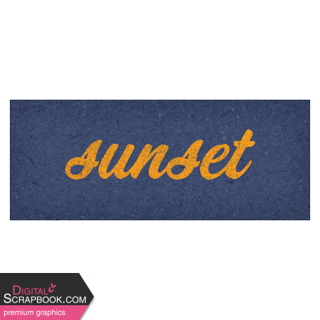 Camp Out Woods Word Art Sunset