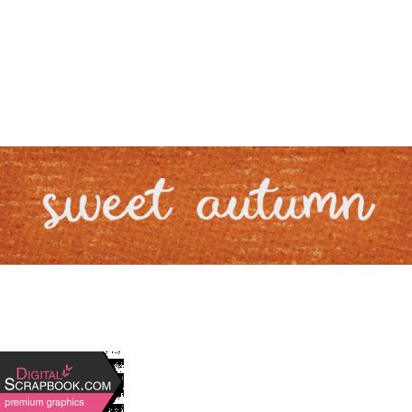 Sweet Autumn - Autumn Word Art Snippet