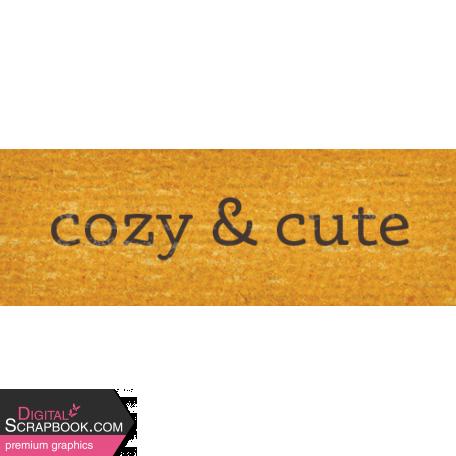 Sweet Autumn Cozy Word Art Snippet