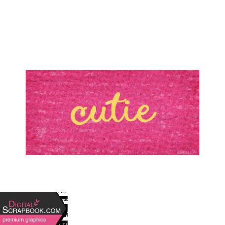 Sweet Autumn Cutie Word Art Snippet