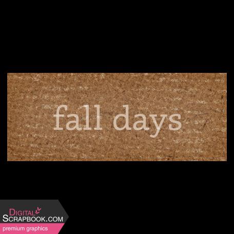 Sweet Autumn Fall Days Word Art Snippet