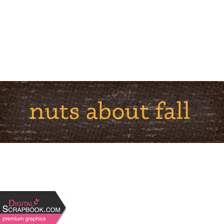 Sweet Autumn Nuts Word Art Snippet