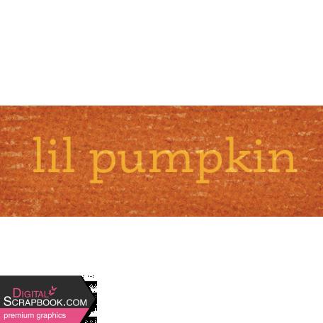 Sweet Autumn Pumpkin Word Art Snippet