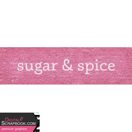 Sweet Autumn Sugar & Spice Word Art Snippet