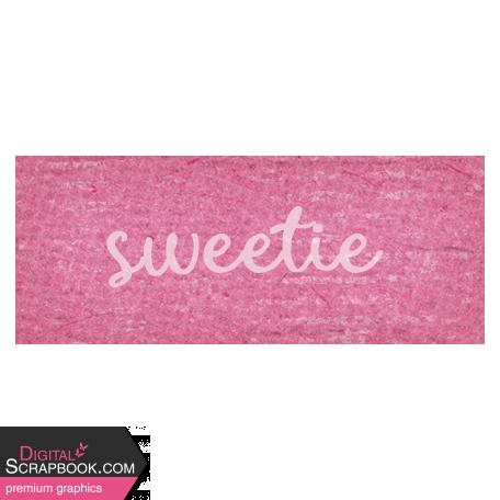 Sweet Autumn Sweetie Word Art Snippet