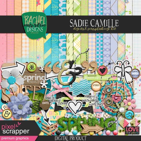 sadie camille digital scrapbooking kit premium elements