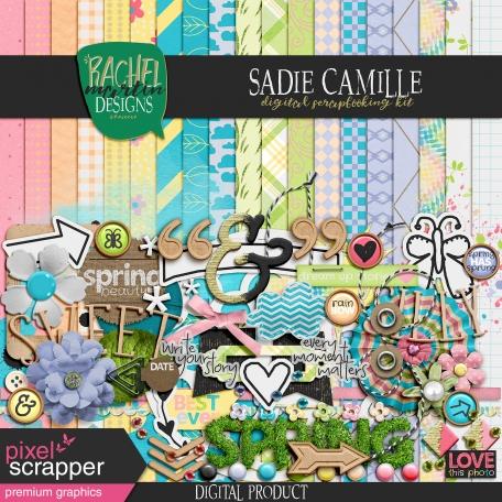 sadie camille digital scrapbooking kit premium elements