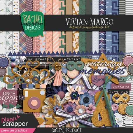 digital scrapbooking kit full of premium graphics by Rachel Martin
