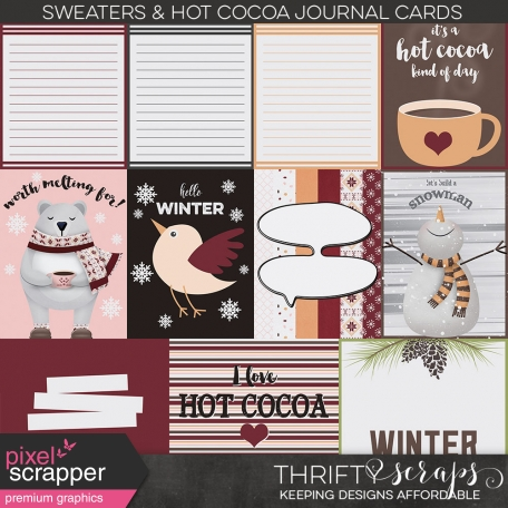 Sweaters and Hot Cocoa Journal Cards