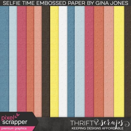Selfie Time (embossed papers)