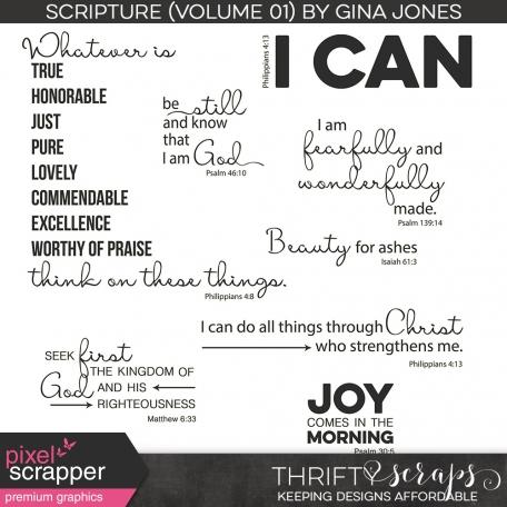 Scripture Word Art (Volume 01)