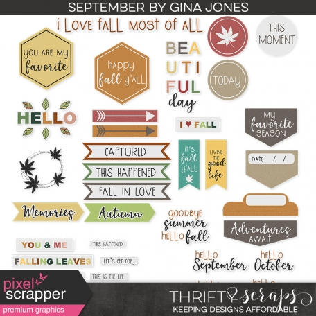 September Labels and Words