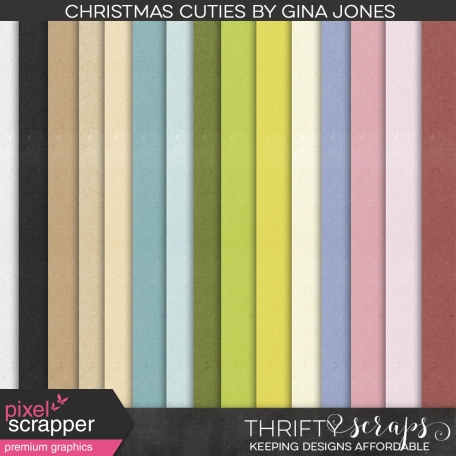 Christmas Cuties Solid Papers