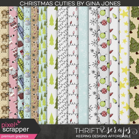 Christmas Cuties Pattern Papers