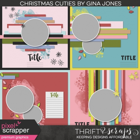 Christmas Cuties Layout Template