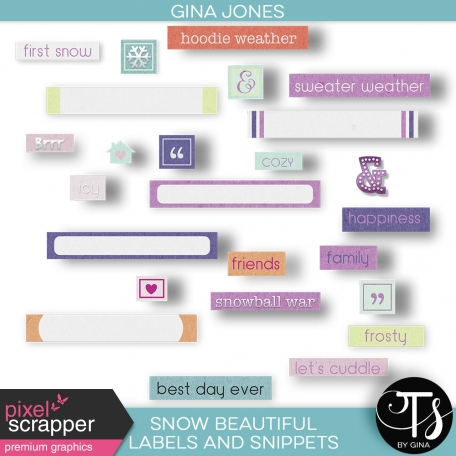 Snow Beautiful (labels and snippets)