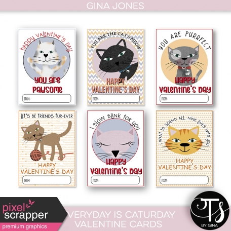 Everyday Is Caturday (Valentine Cards)