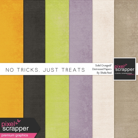 No Tricks, Just Treats Solid Grunged/Distressed Papers Kit