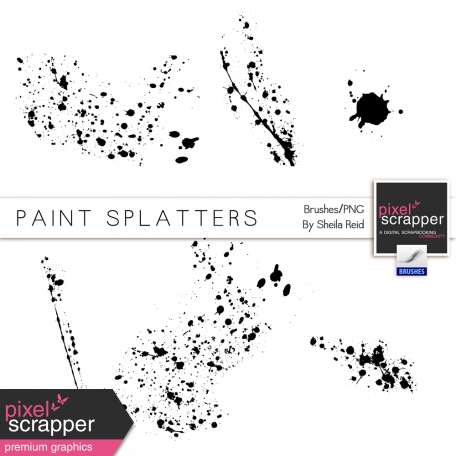 Paint Splatters-Brush/PNG's Kit