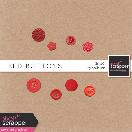 Red Buttons Kit Set #01