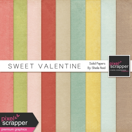 Sweet Valentine Solid Papers Kit